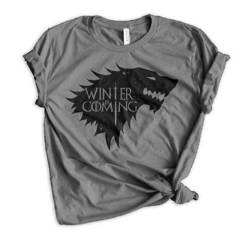 Jon Snow Winter Is Coming - Charcoal
