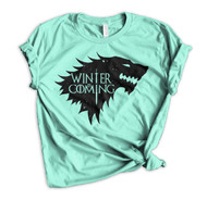 Jon Snow Winter Is Coming - Heather Mint