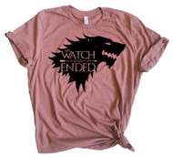 Jon Snow My Watch Has Ended - Heather Mauve