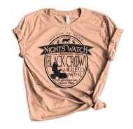 Jon Snow Nights Watch Brewery Crewneck Tee - Dusty Rose