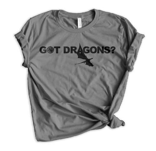 Daenerys Targaryen GOT Dragons? Crewneck Tee - Charcoal