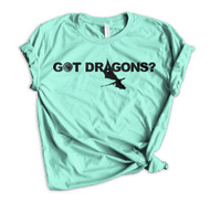 Daenerys Targaryen GOT Dragons? Crewneck Tee - Heather Mint
