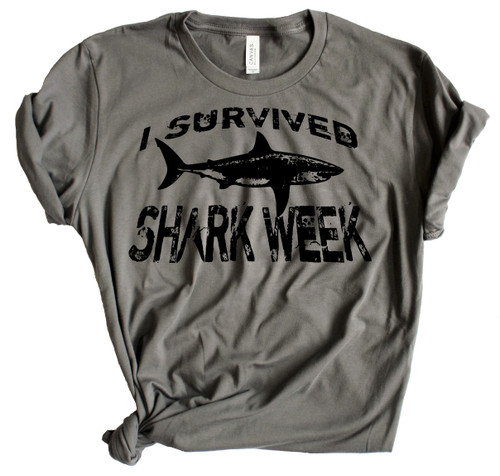 I Survived Shark Week - Charcoal