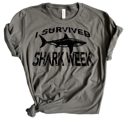 I Survived Shark Week - Charcoal