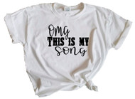 Girl's Oh My God This Is My Song Luke Bryan Youth T-Shirt (White)