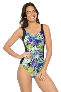 Floral Reef Ruched One Piece Swimsuit
