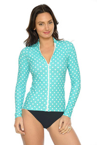 Mint Polka Rash Jacket - XS ONLY