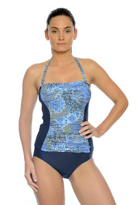 Maroc Ruched Bandeau Tankini with Removable Straps (pant sold separately)