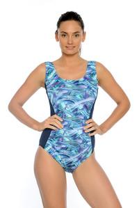 Size 10 & 12 Only - Hazy Daze Mastectomy, Chlorine Resistant One Piece Swimsuit.