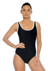 Classic One Piece with tummy control.