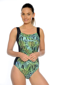 3f47490ae0 Beach Safari Ruched One Piece Swimsuit  With shelf bust support and ruched  tummy control