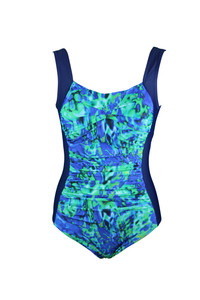 Seasplash Ruched One Piece Swimsuit: With shelf bust support and ruched tummy control