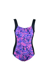 Candy Ruched One Piece Swimsuit: With shelf bust support and ruched tummy control