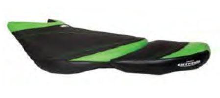 Kawasaki Ultra 250X 260X 300X JetTrim Seat Cover Black/Green/Black NEW KU250X104-A