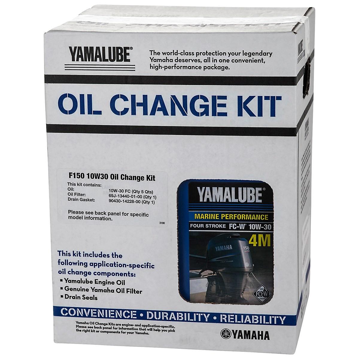 Yamalube OEM Yamaha Outboard F150 10W30 Oil Change Kit LUB-MRNMR-KT-10
