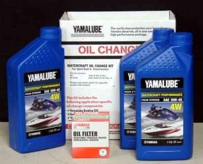 Yamalube 10W-40 PWC Watercraft Oil Change Kit LUB-WTRCG-KT-00