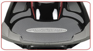 YAMAHA FZR FZS 2009-2014 RIVA GRAY Rear Turf Traction Mat w/ 3M PSA w/ RIVA Logo (RY5-HTRM-050)