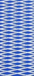 "Hydro Turf Traction Mat ROLL Molded Diamond BLUE WHITE 40"" x 62"" w/ 3M PSA Adhesive (SHT40MD-BLUE/WHT-PSA)"