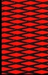 "Hydro Turf Traction Mat ROLL CUT Diamond RED BLACK 40"" x 62"" w/ 3M PSA Adhesive (SHT40CD-RED/BLACK-PSA)"