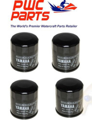 YAMAHA OEM Oil Filter 4-PACK VX Cruiser Deluxe VX110 F70 F50 F15 5GH-13440-50-00