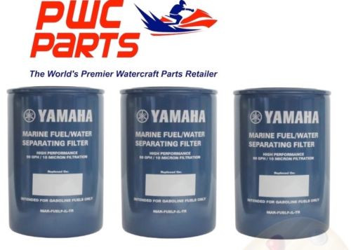 YAMAHA OEM Outboard 3-PACK Fuel/Water Separating Filter 10-Micrn MAR-FUELF-IL-TR