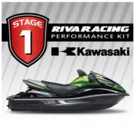 KAWASAKI 2012-2013 ULTRA 300X RIVA Stage 1 Kit 73+ MPH w/ SCOM / Intake Grate +
