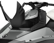 SeaDoo Spark Front Deflector Lid Kit Black 2-Up 3-Up BRP OEM 295100553