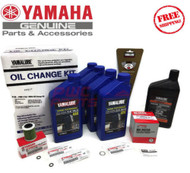 YAMAHA F150 Outboard Oil Change Kit 10W-30 4M Fuel Filter Gear Lube Maint Kit