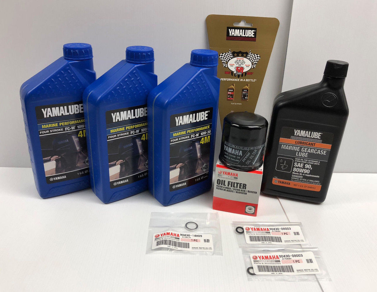 YAMAHA OEM F30-70 Outboard Oil Change Kit w/ Gear Lube 10W30 4M  LUB-MRNSM-KT-10