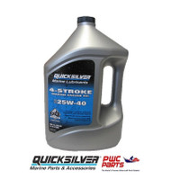 QUICKSILVER 25W-40 4-Cycle Marine Engine Oil 92-8M0078620 One Gallon