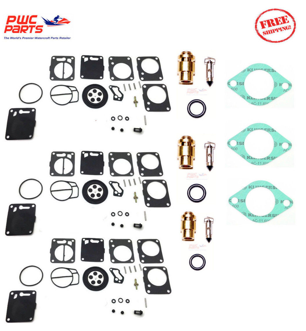 POLARIS MIKUNI Carburetor Rebuild Kit Needle Seat Carb Base Gasket SL 650  92-95