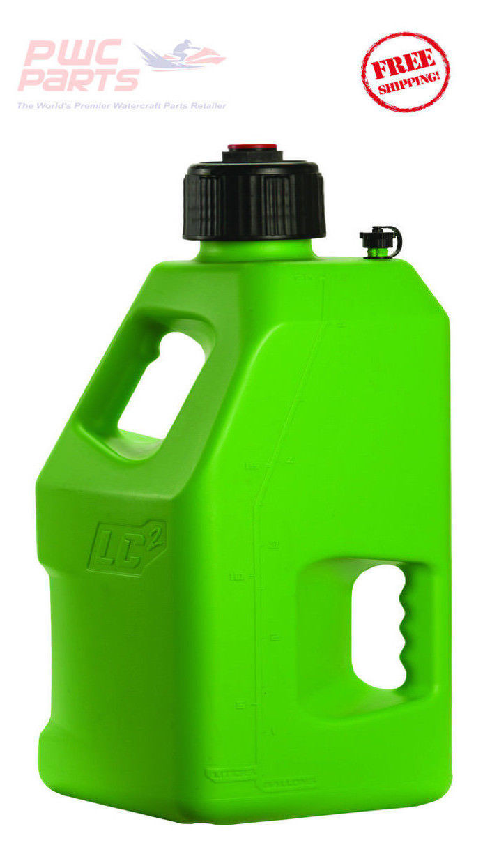Lc2 Fuel Jug W Lid Cap Container Fly Racing Green Atv Mx