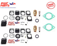 SeaDoo Dual Mikuni Carburetor Rebuild Kit Needle Seat Base Gasket 1995-1996 SPX