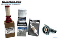 MERCURY VERADO TUNE UP KIT FUEL FILTER, OIL FILTER, THERMOSTAT, QUICKSILVER  MERCURY VERADO L6 100 HOUR MAINTENANCE KIT  FITS VERADO L6 MODELS - 200/225/250/275/300HP   QUICKSILVER OEM OIL FILTER - 877769Q01  QUICKSILVER IN-LINE FUEL FILTER - 879885Q QUICKSILVER WATER SEPARATOR FUEL FILTER - 8M0060041 WSM THERMOSTAT 775-60 REPL  892864T04