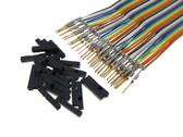 HQ 40-Pin M-M Zippable Color Jumper Wire 2.54mm Pre-Crimped Gold Plated 20cm