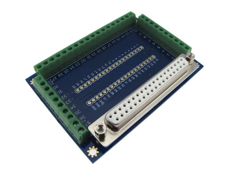 DB25 Female Signals Breakout Board Screw terminals vertical