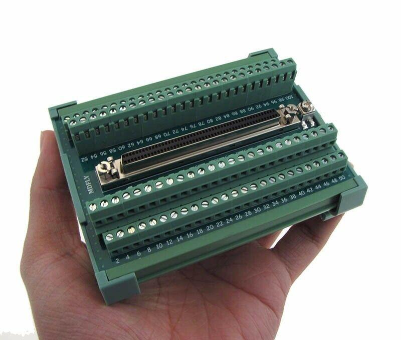 Compact 100-Pin SCSI Female Signals Breakout Board Module