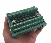 Compact 100-Pin SCSI Female Signals Breakout Board Module DB100 Din Rail Mount