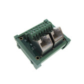Dual  RJ45 Ethernet Connector Breakout Board Module 45D Screw Terminals Din Rail Mount