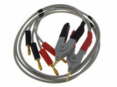 HQ LCR Meter Cable w/ 4 Banana Plug Connectors kelvin clip SMD 6ft