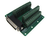 DB44 Male Signals Breakout Board Screw terminals