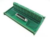 50-Pin SCSI Female Signals Breakout Board Module Din Rail