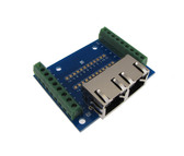 Dual RJ45 Ethernet Connector Breakout Board Spring leaf 8P8C w/ LED