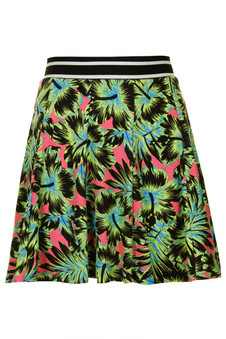 Topshop Hawaiian Flippy Skirt