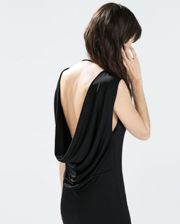 Zara Black Dress With Back Drape