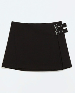 Zara Black STUDIO Side Buckle Overskirt