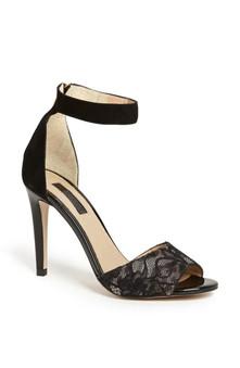 Topshop Black Rees 2 Part Sandals
