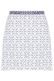 Topshop Cream Contrast Floral Skirt