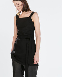 Zara Black STUDIO Pinafore Top