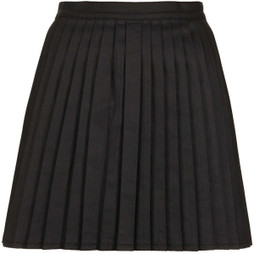 Topshop MOTO Pleated Denim Mix Skirt